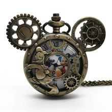 Klasyczna mozaika kreskówkowa zegarek kieszonkowy mężczyźni kobiety puste etui Steampunk Vintage naszyjnik najlepsze prezenty dla dzieci najlepszy prezent tanie tanio SHUHANG CN (pochodzenie) QUARTZ STAINLESS STEEL ROUND ANALOG Fashion Stacjonarne Akrylowe Unisex Kieszonkowy zegarki kieszonkowe