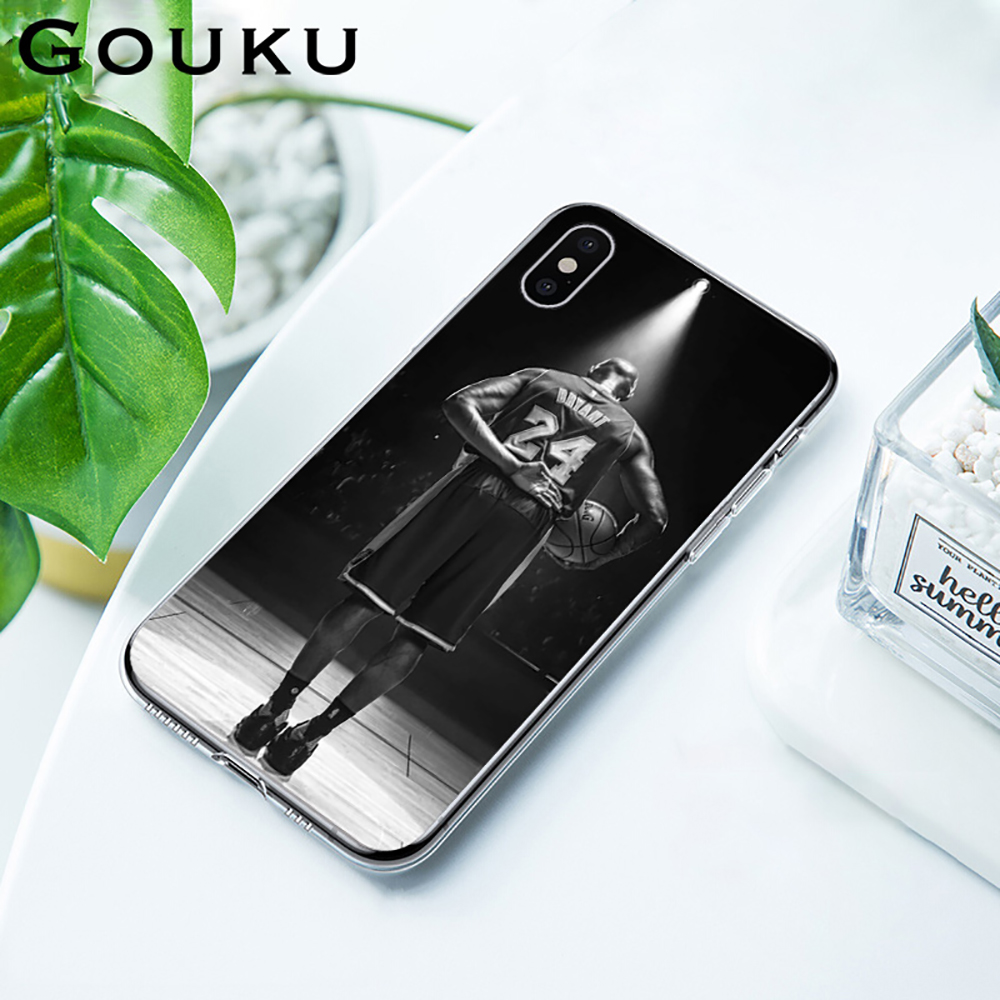 GOUKU For Kobe Bryant Fashion Transparent Phone Case Silicone Case For IPhone 11 X XS Pro XR XS Max 8 7 6 6S Plus 5 5S SE