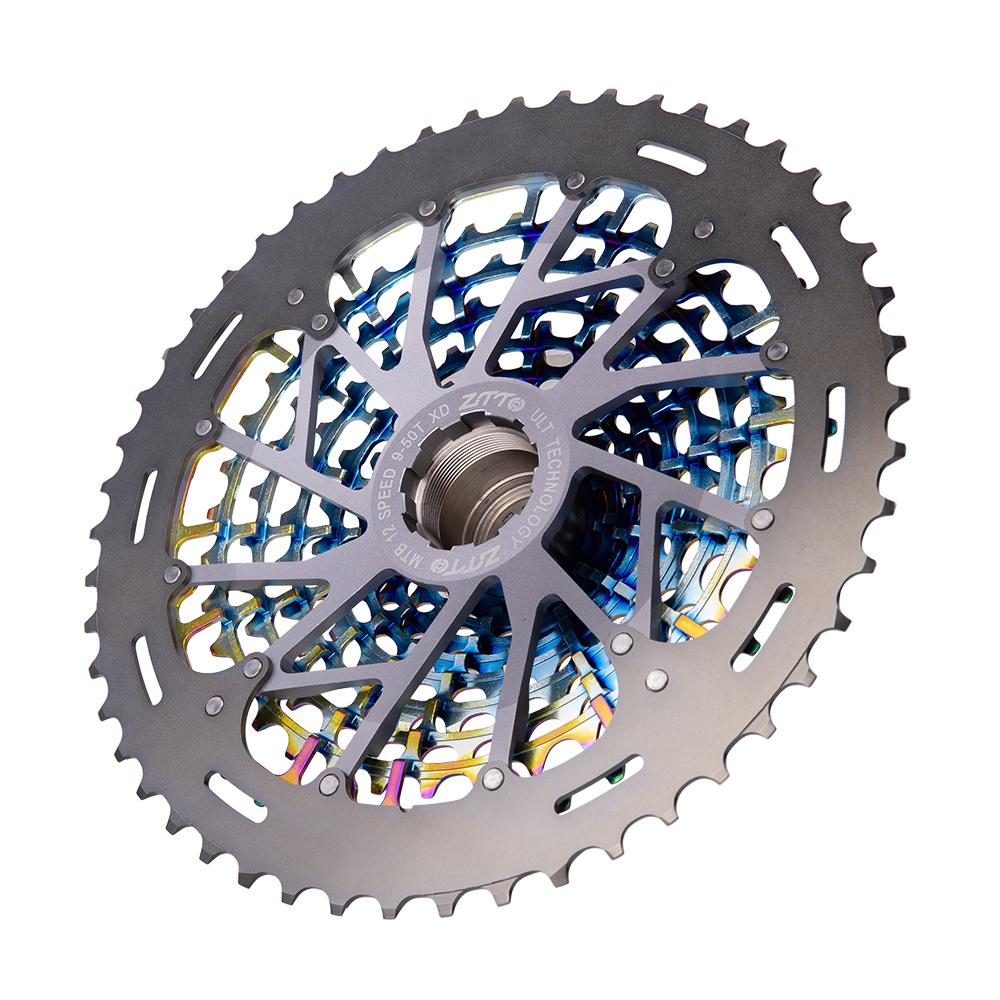 Image 5 - ZTTO MTB 12 Speed 9 50T Cassette Ultimate XD Cassette Rainbow 375g ZTTO ULT Cassette Ultralight 12s Cassette 1299 k7 Colorful-in Bicycle Freewheel from Sports & Entertainment