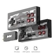 DATA FROG consola de videojuegos 4K HDMI, compatible con 1400 juegos clásicos, MiniRetro, mando inalámbrico, compatible con HDMI