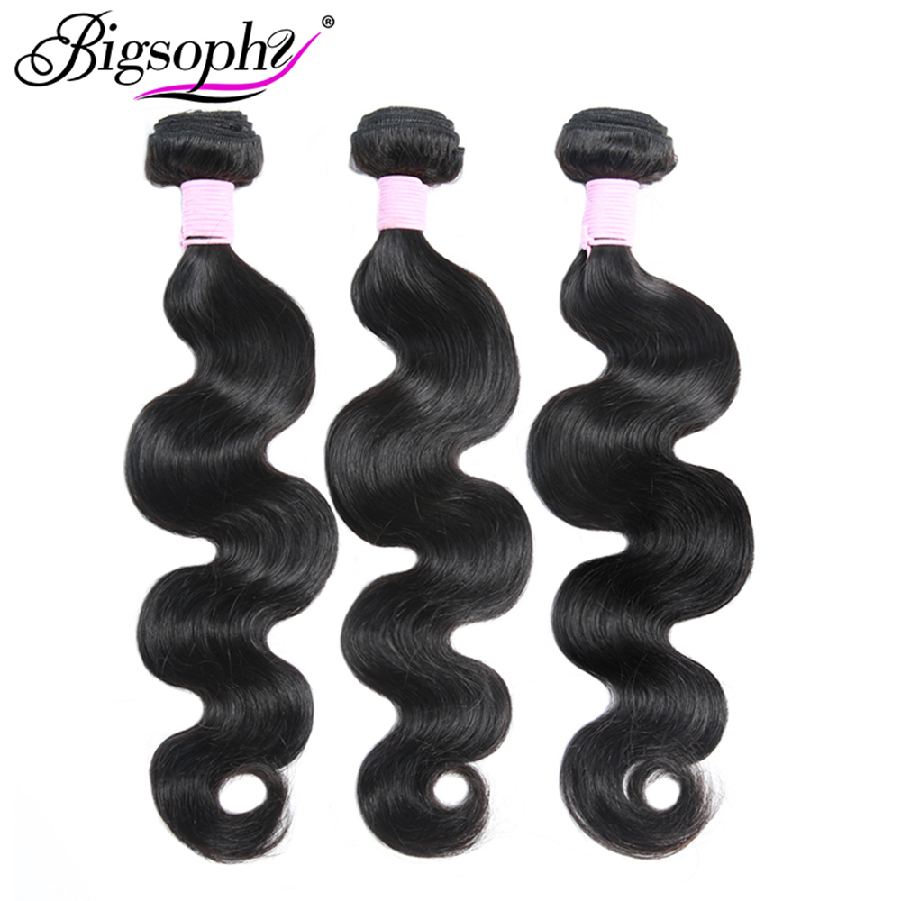 Bigsophy Human <font><b>Hair</b></font> Bundles Body Wave Bundles <font><b>Hair</b></font> 8-40 28 32 30 Inch Bundles Weave Peruvian Remy <font><b>Hair</b></font> Extension 1 3 4 Pcs Deals image
