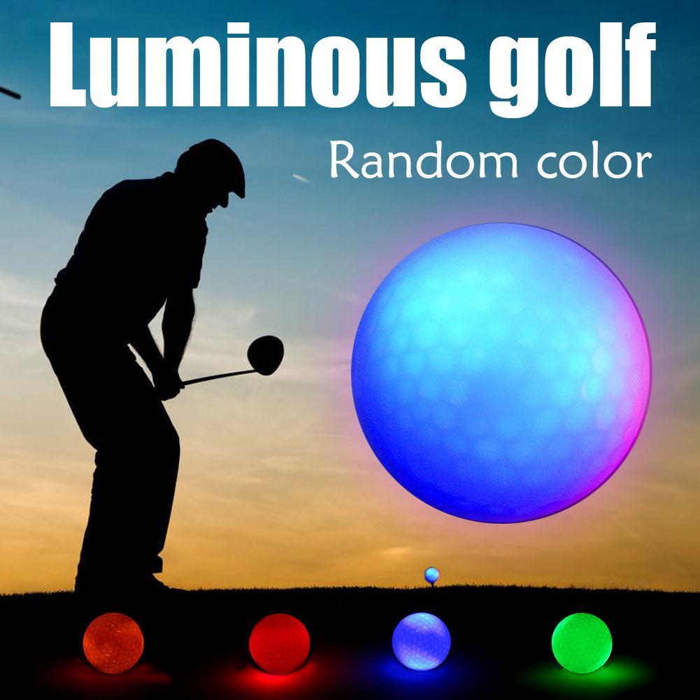 Luminous Night Golf Balls LED Light Up Golf Balls Glow In The Dark Bright Long Lasting Reusable Night Golf Ball 4 Colors