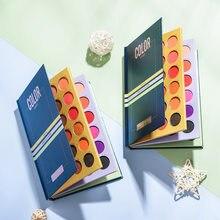 Beleza vitrificada 72 colorshade sombra paleta sombras brilho highlighter shimmer livro compõem pigmento maquiagem sombra para palco