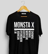 Monsta X Leden Kpop T-Shirtmonsta X Monbebe Shirtmonsta X Merchkpop Merch(China)