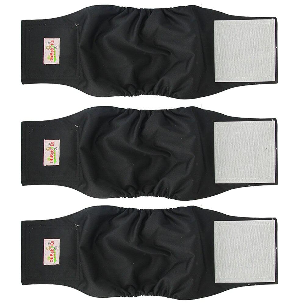 OhBabyKa Многоразовые моющиеся шорты для собак, 3 упаковки, подгузники для собак, прочные и удобные штаны для мужчин и собак, размеры S, M, L