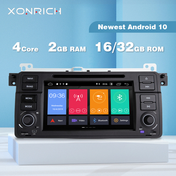 Xonrich AutoRadio 1 Din Android 10 Car DVD Player For BMW E46 M3 Rover 75 Coupe 318/320/325/330/335 GPS Navigation 1998-2006 4G image