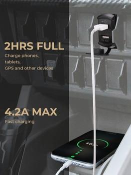 5V 4.2A Universal LED Car Charger Dual USB Switch For Can-AM Maverick X3 for Polaris RZR 1000 800 900 xp Ranger for Boat UTV ATV