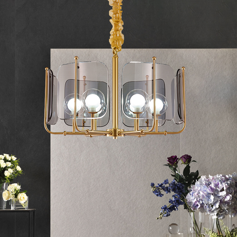 Nordic Light luxury personalized glass chandelier glass art duplex villa dining room living room decorative Chandelier|Pendant Lights| |  - title=