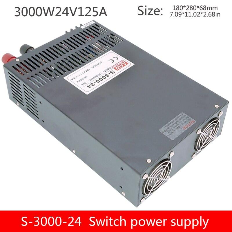 3000W high power einstellbare schaltnetzteil geregelte DC transformator S-3000-12V/24V/36V/48V/60V/80V