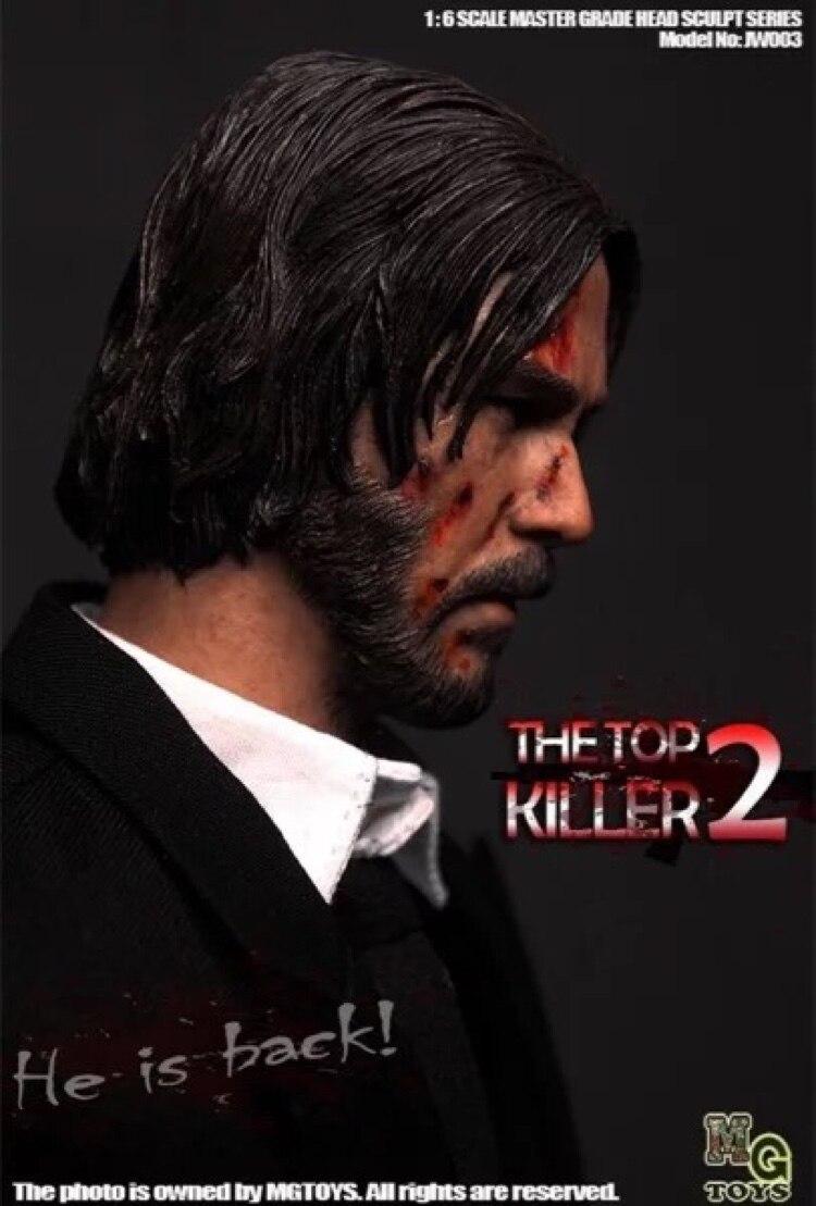 """Collectible In Voorraad 1/6 De Killer John Wick Head Sculpt Keanu Reeves Model Voor 12 """"Figuur Lichaam"""