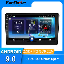 Funrover 9inch android 9.0 Car Radio Multimedia Player autoradio For LADA BA3 Granta Sport 2011-2018 Navigation GPS 2 din no dvd(China)