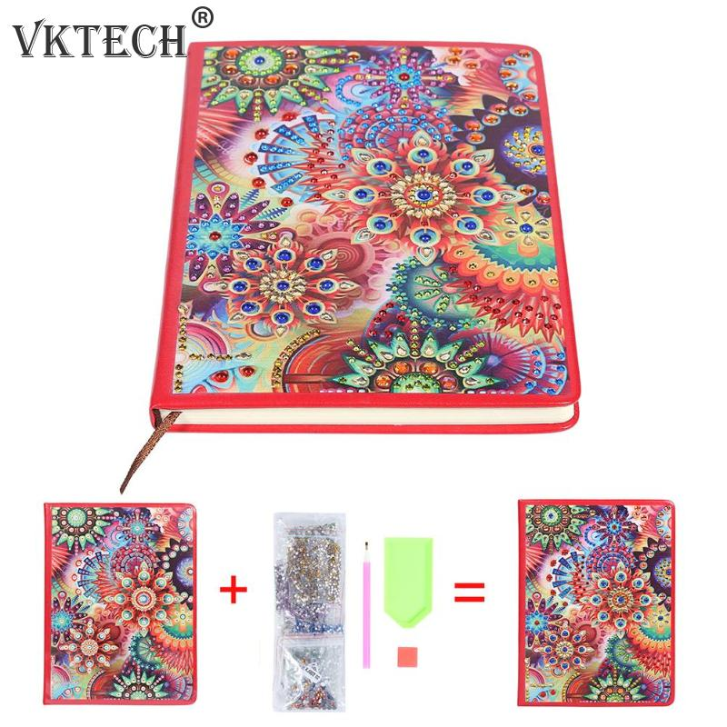100 Pages DIY Special Shaped Diamond Painting Notebook Diary Book Sketchbook Embroidery Diamond Cross Stitch Craft Gift