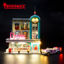BriksMax Led Light Kit For Creator Expert Downtown Diner Building Blocks Model Lighting Set Compatible With 10260 цена