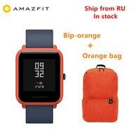 Amazfit Bip GPS Xiaomi Amazfit Bip akıllı izle Huami mi band ayak Gloness Smartwatch kalp hızı telefon MI8 IOS gemi çin'den RU