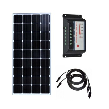 Solar Kit 150w 300w 450w Solar Panel 150w 12v Solar Charge Controller 12v/24v 30A PWM PV Cable Connector Car Caravan Camping RV