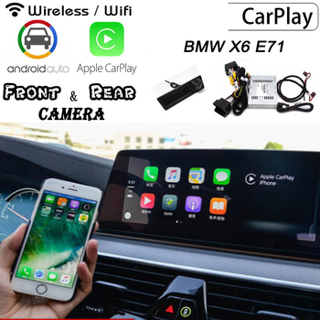 Wireless Carplay box For BMW X6 E71 2009~2019 Rear Front camera Original screen adapter Interface Display improve decoder image