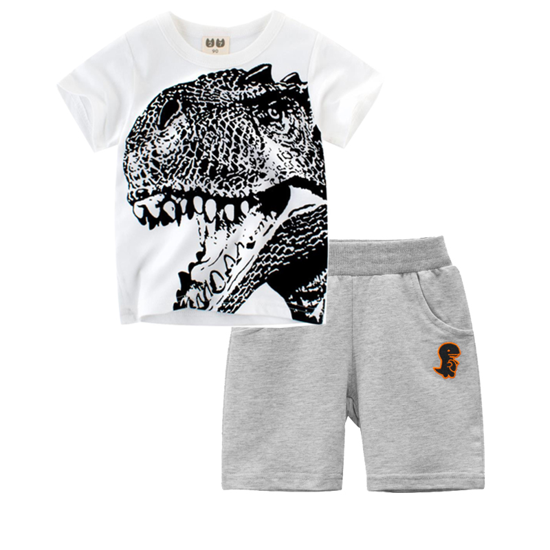 Girls Boys Vintage Style Shark Organic T-Shirt Summer Tee for 2-6 Years Old