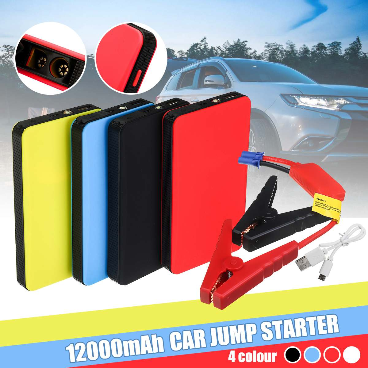 Charger Powers-Display Multi-Function Car-Start-Powers Mobiles Engine-Emergency-Battery title=