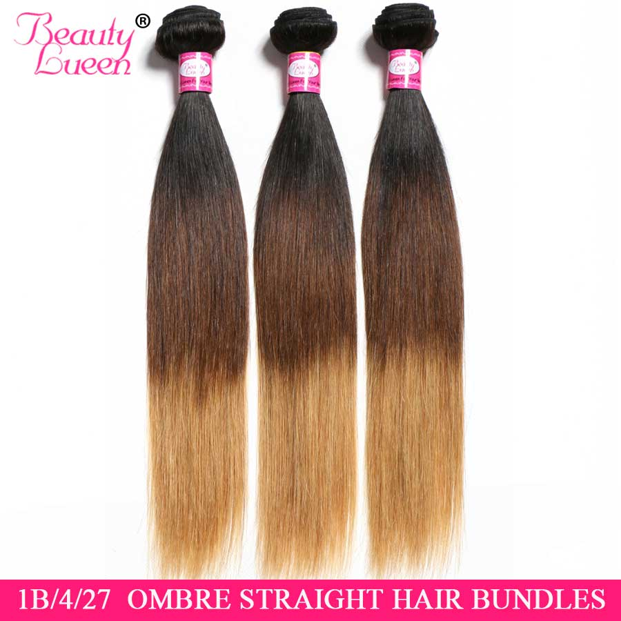 Brazilian Straight Hair Weave 3/4 Bundles Deals Non Remy 26 inch Tissage Ombre Human Hair Bundles Cheveux Humain Hair Extension