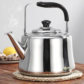 3 L ze stali nierdzewnej czajnik do gotowania wody czajnik do herbaty czajnik czajnik gwizdek składana rączka czajnik kempingowy zestaw do uprawiania turystyki pieszej tanie i dobre opinie Dreamburgh CN (pochodzenie) STAINLESS STEEL