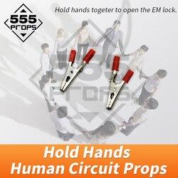 Escape room game props Human circuit prop hold Hand Tools body bridge props Room Escape Chamber props Adventure props