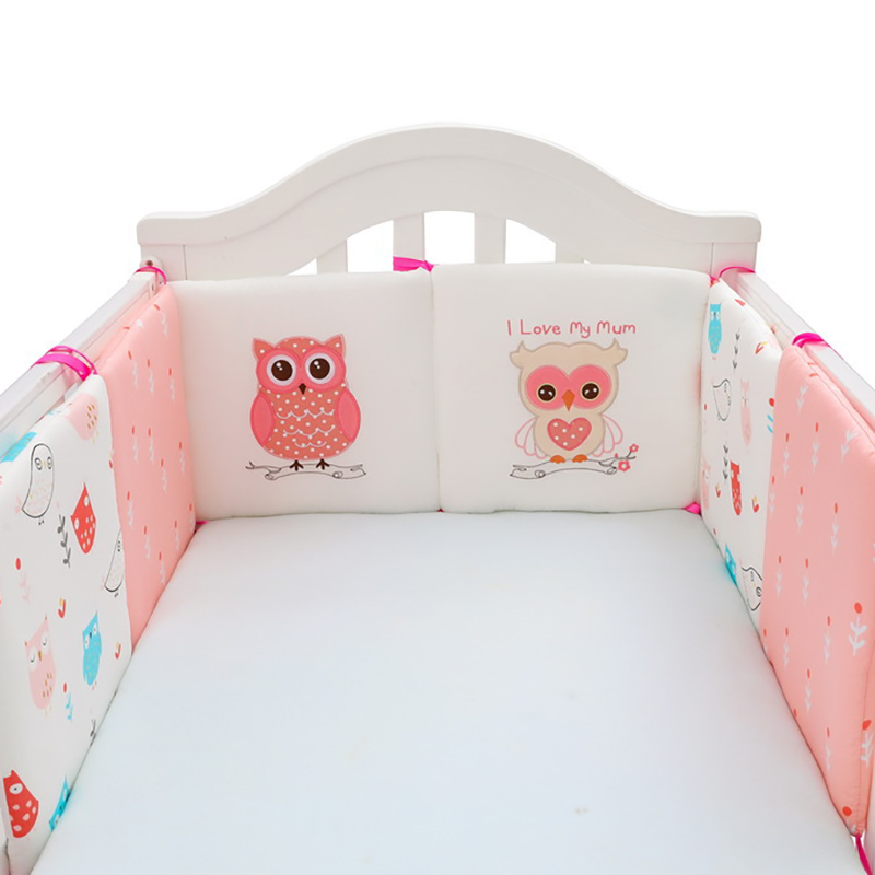 6Pcs/Lot Baby Bed Protector Crib Bumper Pads  Soft Safety Protection Pad Cushion Kids Cot  Baby Bedding Cotton YME007