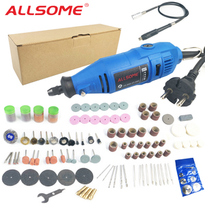 Image 1 - ALLSOM 180W Electric Dremel Engraving Mini Drill polishing machine Variable Speed Rotary Tool with 148pcs accessories HT2831