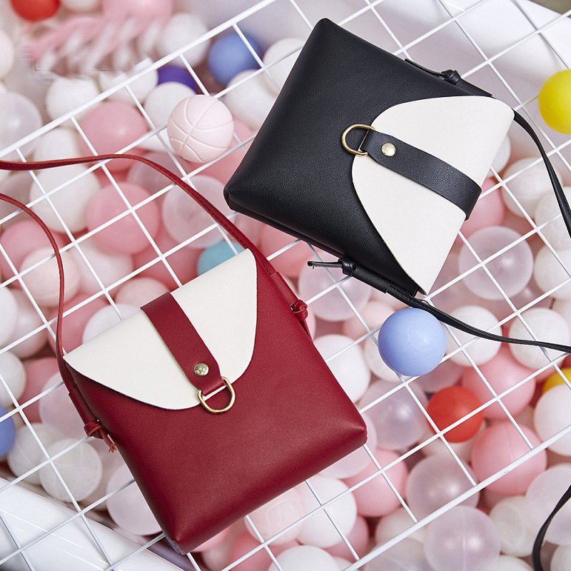 Shoulder Bags For Women Crossbody Bags  PU Purse Phone Coin Purse Small Square Bag Small Flip Leather Simple Korean Version Wild