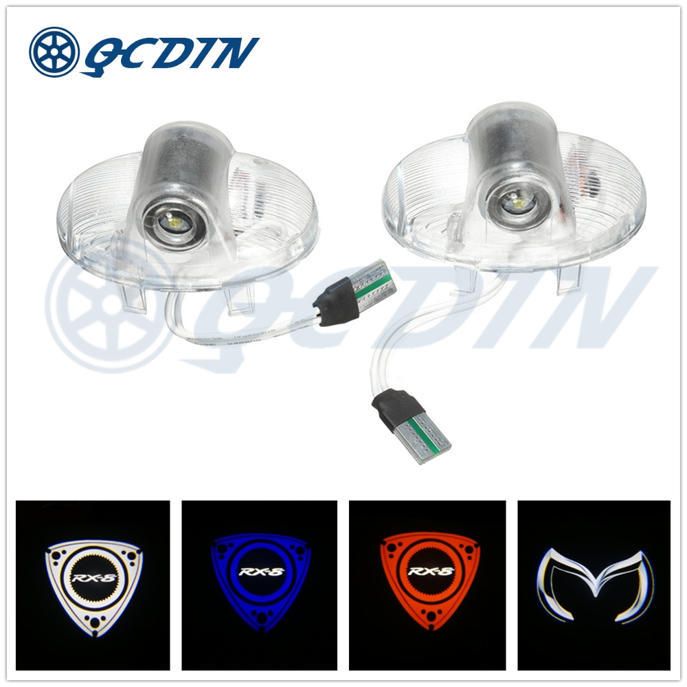 QCDIN For <font><b>MAZDA</b></font> <font><b>LED</b></font> Car Door Welcome <font><b>Light</b></font> Logo Projector for <font><b>MAZDA</b></font> RX8 MAZDA6 MAZDASPEED CX-9 <font><b>MAZDA</b></font> 8 ATENZA <font><b>MAZDA</b></font> MPV Ruiyi image