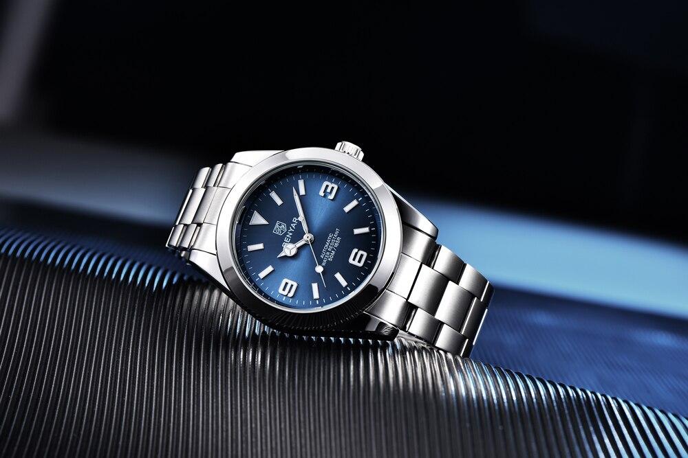 marca relógios masculinos de aço inoxidável relógios