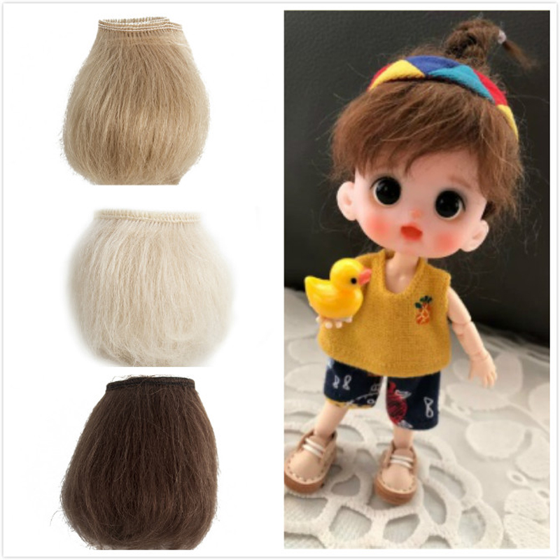 100% Pure New Mohair Reborn Baby Doll Hair With Dark Brown Gold Color Red Fit For DIY Reborn Baby Doll Wig Easy To Wash And Root