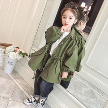 цены Autumn Baby Girls Trench Coat Children Clothing Girls Jacket Kids Clothes Outerwear Casual Long Sleeve Princess Outerwear Coats