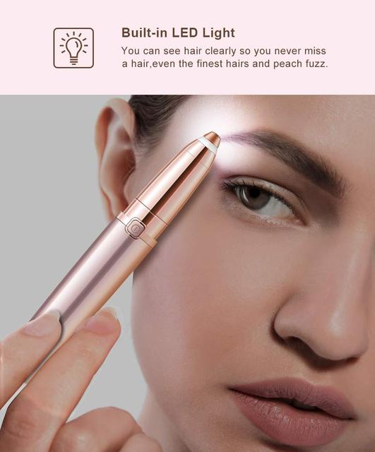 Eyebrow Hair Remover for Women, Eyebrows Hair Removal Electric Trimmer Razor Battery Operated for Smooth Finishing and Painless 1