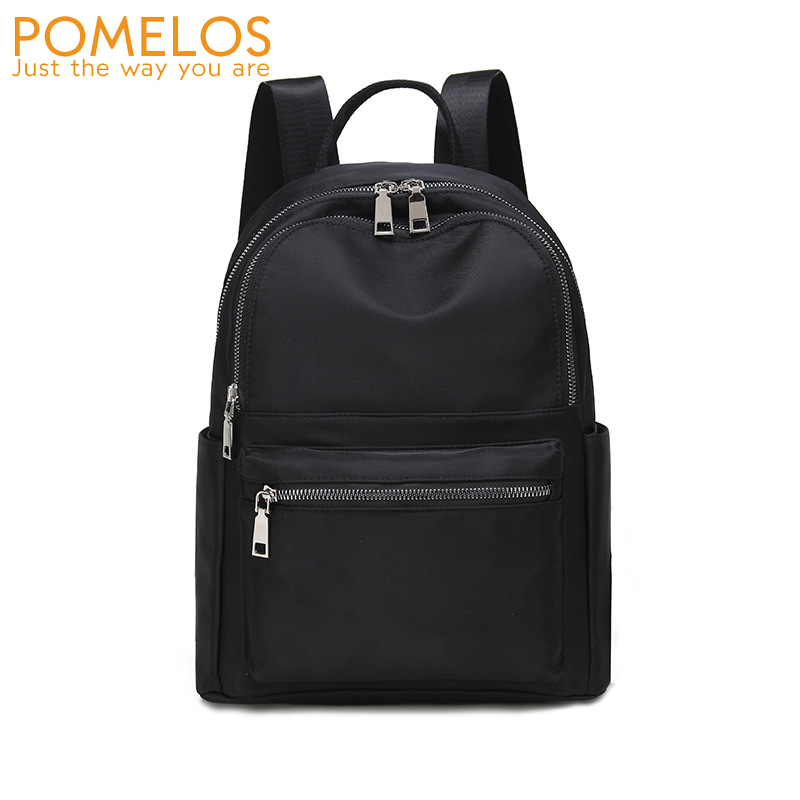 POMELOS Designer Style Backpack Women 2020 Fashion Solid Black Water-repellent Oxford Lightness Compack Backpack For Lady Travel