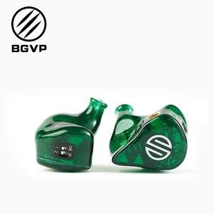 BGVP DH3 2 zbalansowane słuchawki douszne HIFI dynamiczne słuchawki douszne w monitorach dousznych interfejs MMCX słuchawki douszne do telefonu