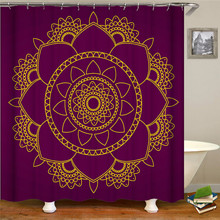 Festive Floral Print Shower Curtain Polyester Shower Curtain Waterproof Shower Curtain цена в Москве и Питере
