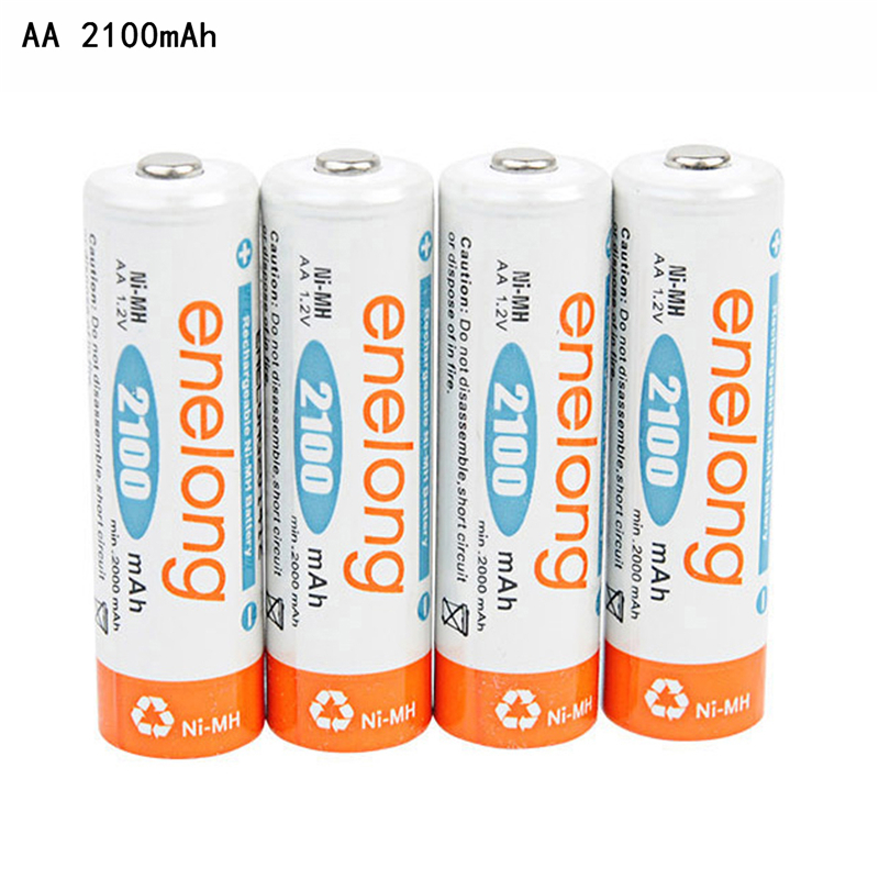Enelong <font><b>Ni</b></font>-<font><b>MH</b></font> 900mAh AAA <font><b>1.2V</b></font> AAA <font><b>Battery</b></font> <font><b>AA</b></font> 2100mAh Nickel Metal Hydride Low Self-Discharge NiMH Rechargeable <font><b>Batteries</b></font> image