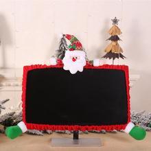 Рождественский компьютерный ЖК-монитор, защитная крышка для экрана, Рождественский Декор, праздничные украшения, вечерние принадлежности, Декор