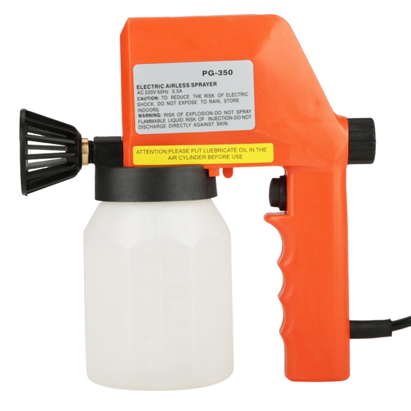 Promotion! 600Ml Large Capacity Electric Air Less Paint Sprayer Hand Held Spray Tool 220V 50Hz 75W 0.5A Eu Plug|Spray Guns| |  - title=