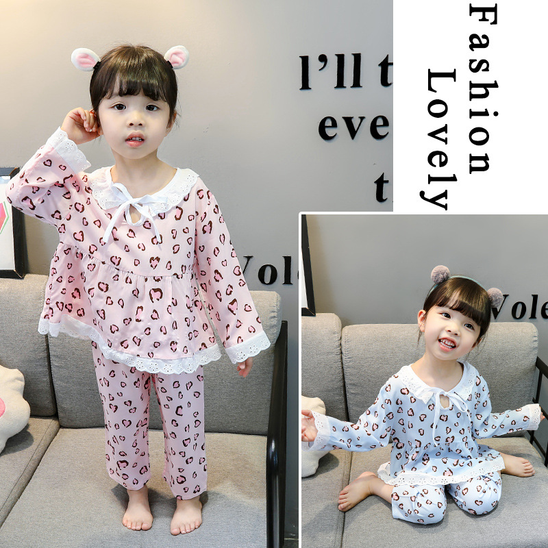 Childrenswear CHILDREN'S Pajamas 2019 Summer New Style Baby Four Seasons Air Conditioning Clothes Kids Tracksuit GIRL'S Suit