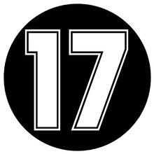 CS-1484#18*18см наклейки на авто Цифра 17 водонепроницаемые наклейки на машину наклейка для авто автонаклейка стикер этикеты винила наклейки стай...