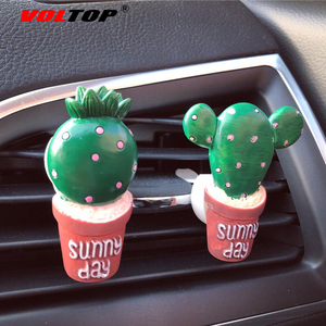 Image 4 - Sukkulenten Kaktus Auto Dashboard Dekoration Air Outlet Parfüm Clip Ornamente Auto Zubehör Innen Hängenden Anhänger
