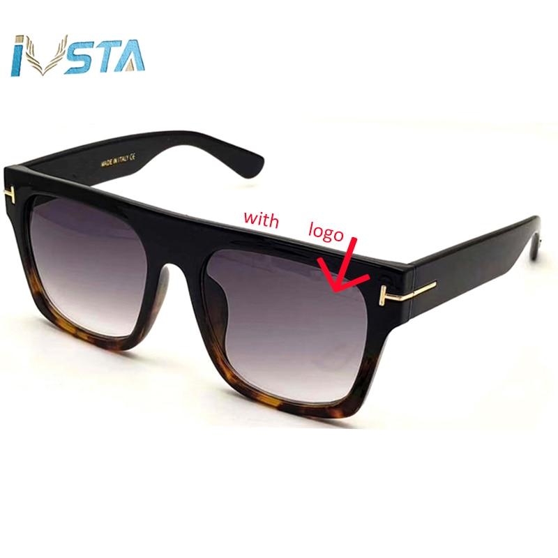 IVSTA TF 0711 with Original Logo Oversized Sunglasses Men Steampunk Goggles Big Size Glasses Women Punk Luxury Brand Designer