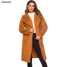 Women Coats and Jackets Winter 2019 Single Button Hooded Pocket Teddy Brown Elegant Warm Coat Women Plus Size Loose Casual Coat plus size hooded horn button coat