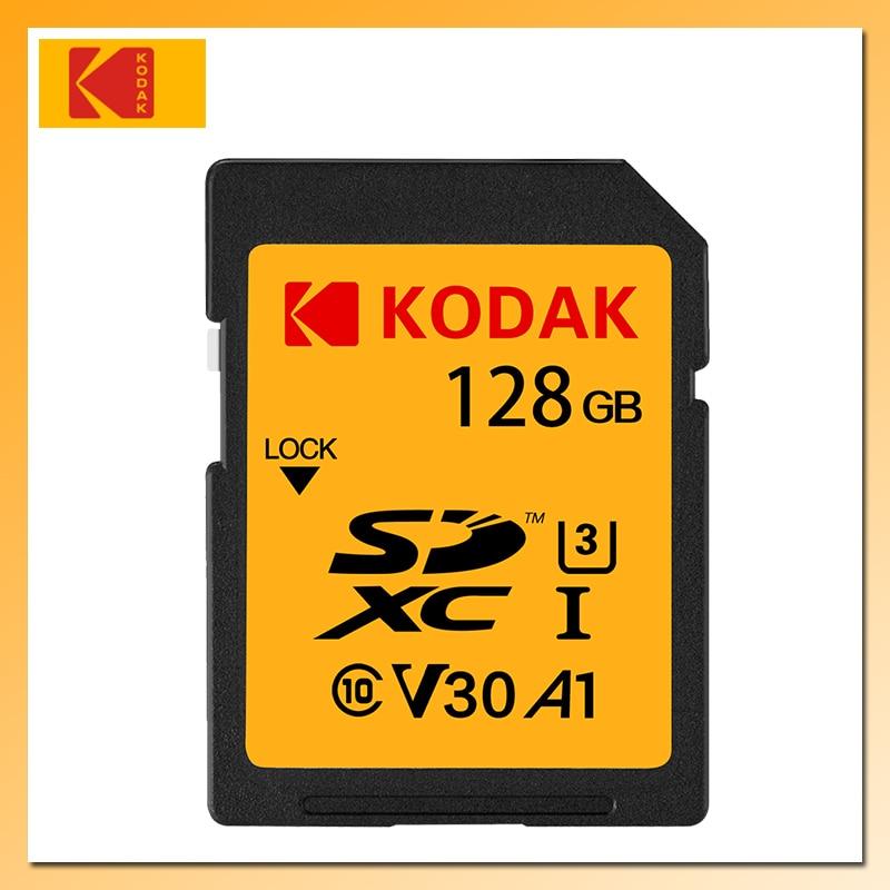 KODAK tarjeta SD de 128GB 64GB SDXC tarjeta de memoria U3 V30 tarjeta Flash Class10for Digital SLR/cámara HD U1 tarjeta de memoria SDHC 16GB 32GB