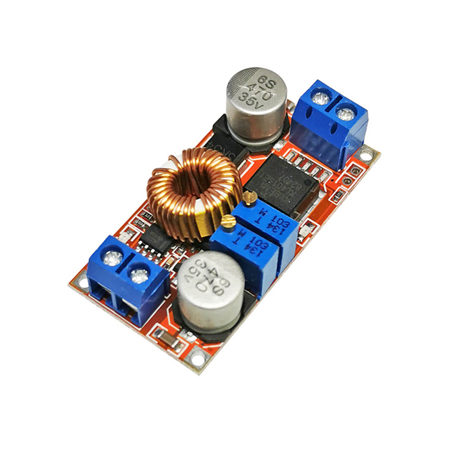 DC-DC step-down module constant current and constant voltage 5A lithium ion battery charging LED driver 5-32V to 0.8-30V