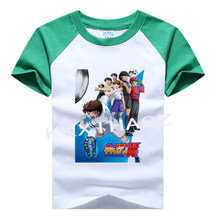 Mode Katoen Captain Tsubasa Jongens Meisjes T-shirts Kinderen Kids Cartoon Print T Shirts Baby Kind Tops Kleding Tee 3T-8T 0112(China)