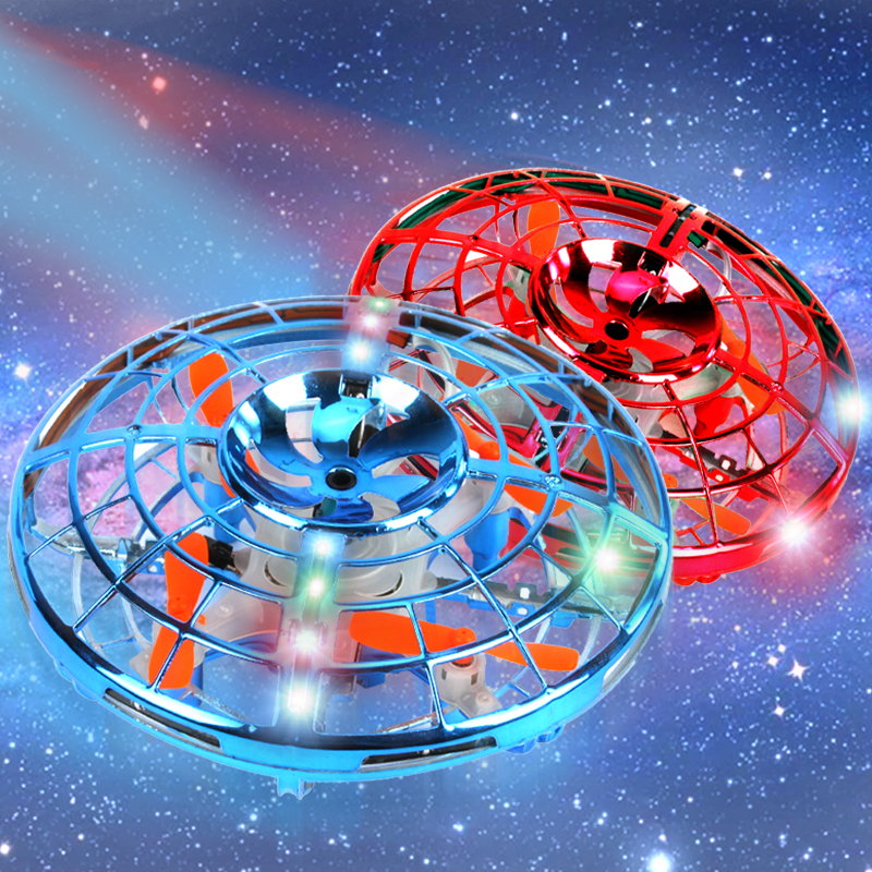 Mini Levitation-UFO RC Drone Flying Ground Dual Mode Hand sensing Quadcopter flayaball RC helicopter Induction Toys For Children