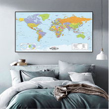 The World Political Map 90*60cm vintage decor Wall Sticker Map Card Canvas Painting Home Decoration School Supplies