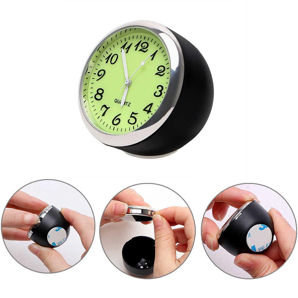 Relógio de quartzo relógio de carro termômetro higrômetro luminoso para casa automóvel mini decoração do carro-estilo mecânico ornamentos